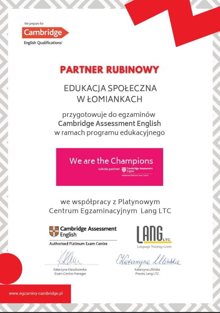 Rubinowy partner Cambridge